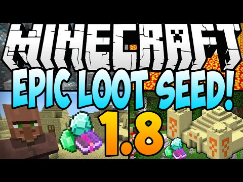 ★ Minecraft 1.8.1 Seeds: EPIC LOOT SEED! 9 Diamonds, 2 Temples, 2 Villages AT SPAWN (Minecraft 1.8)