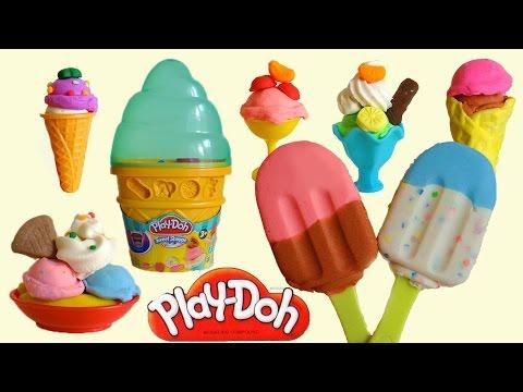 Play-Doh Ice Cream Cone & Banana Split, Sundae Ice Cream Playset