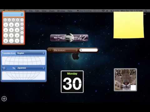 How to get Widgets on Your Desktop-Mac