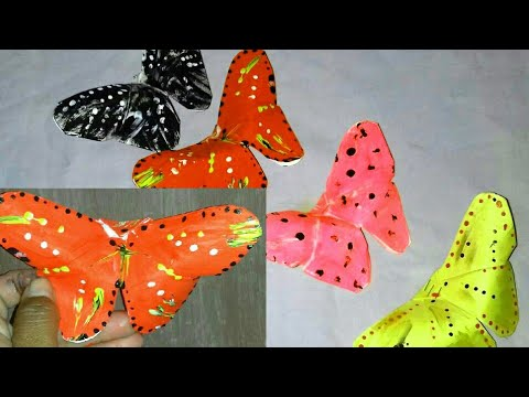 DIY :Make beautiful butterfly with chart paper. .