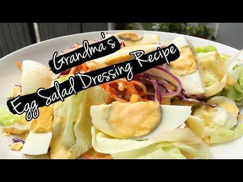 Simple Egg Salad Dressing Recipe   น้ำสลัดไข่ สูตรคุณย่า ง่ายๆ
