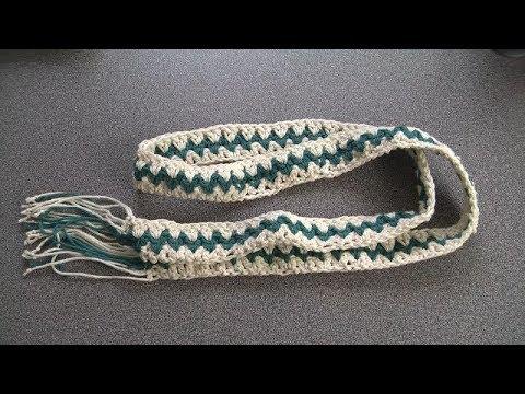 Crochet easy belt, boho style