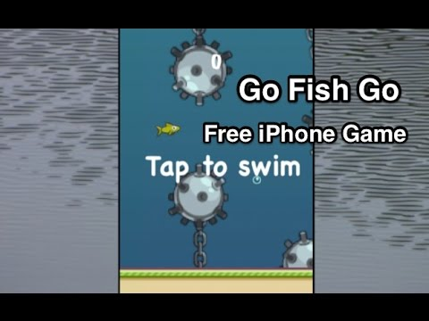Go Fish Go Flappy Bird Like Game iPhone App Review