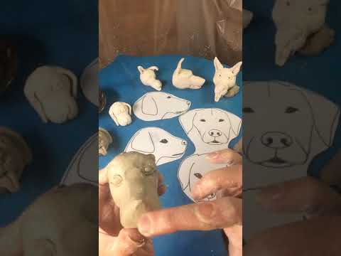 Making a Clay Dog Head