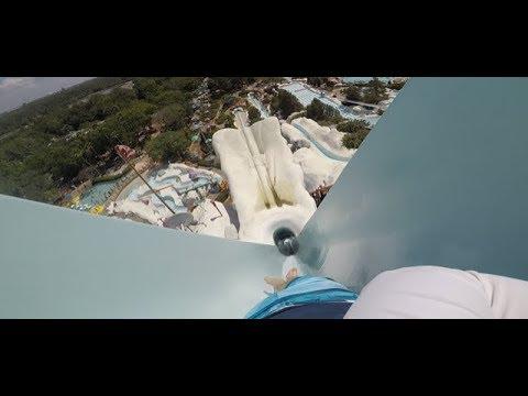 Blizzard Beach - Summit Plummet POV | Epic 120ft waterslide!