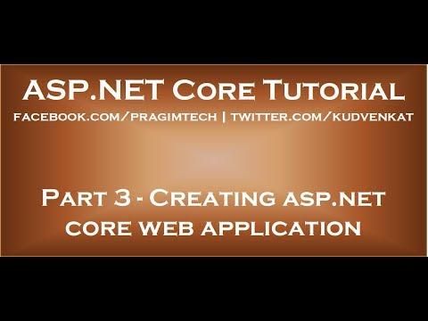 Creating asp net core web application