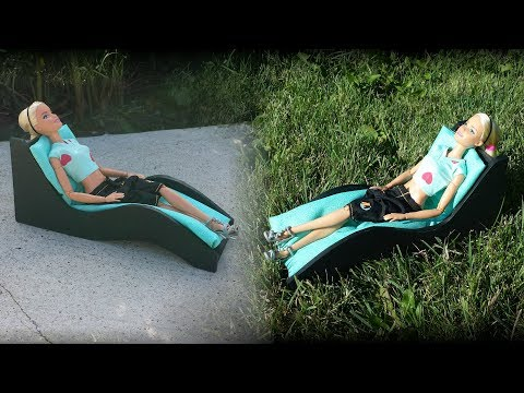 How to make a Doll Outdoor Lounge Chair