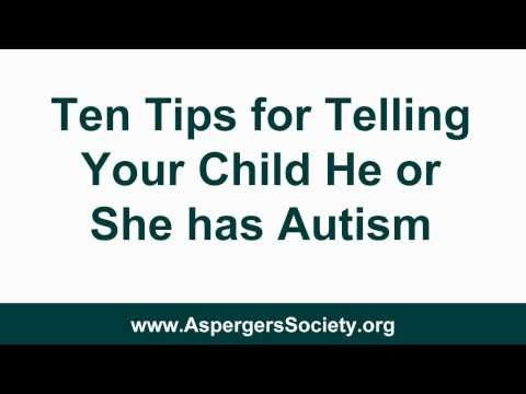 Telling Children They Have Autism or Aspergers Syndrome