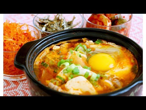 Korean Kimchi Soft Tofu Stew 豆腐煲 CiCi Li