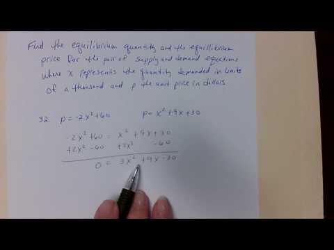 Equilibrium price, Equilibrium quantity