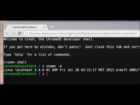 How to get a command prompt on Chromebook and windows