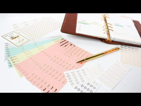 How To Make Custom Foiled Planner Stickers