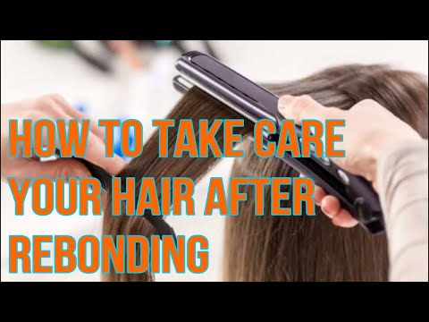 How to take care your hair after rebonding  in Hindi