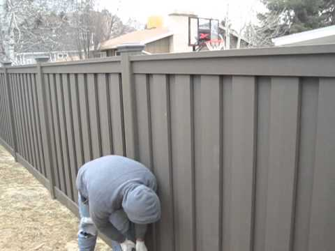 Trex Fencing Installation - Firming up the bottom rail