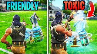 Download Pretending To Be A FRIENDLY DEFAULT In Solos, Then Turning TOXIC... (Fortnite) Video