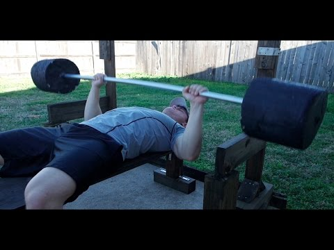 Homemade Weights - Bench Press + Barbell Review