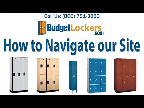 Budget Lockers | How to Navigate our Site