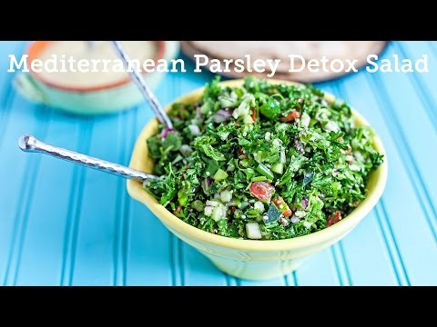 Vegan Mediterranean Detox Parsley Salad