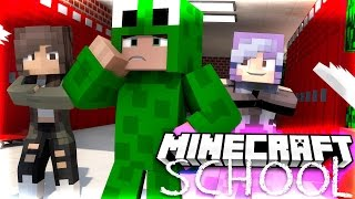 Minecraft School - TWO GIRLS FIGHT OVER LITTLE LIZARD! w/ Tiny Turtle