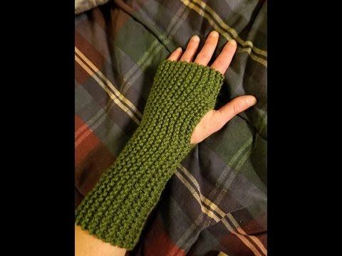 Easy Knit Fingerless Gloves Tutorial