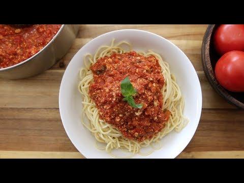 Vegan Spaghetti Sauce | The Buddhist Chef