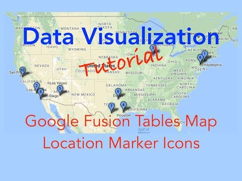 Data Visualization - Change Google Fusion Tables Map Location Marker Icons