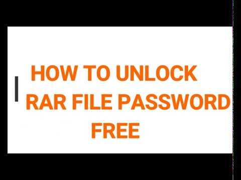 how to unlock zip &rar and ios file password for free