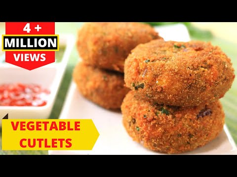 Vegetable Cutlets - CRISPY CRUNCHY VEG CUTLETS RECIPE IN HINDI By RAVINDER'S HOME COOKING