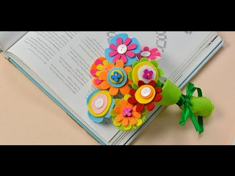 How to Make Felt Flower Bouquets with Buttons and Wood Beads