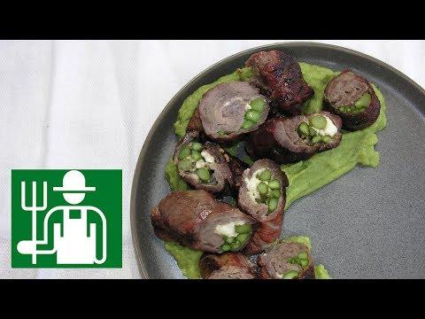 Steak Roulade   Asparagus Cauliflower Puree   Keto Grilling Recipe