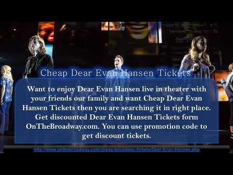 Dear Evan Hansen Theater Tickets
