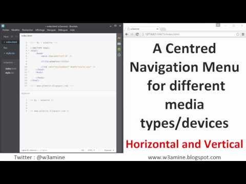 Create a responsive navigation menu (Horizontal and vertical)