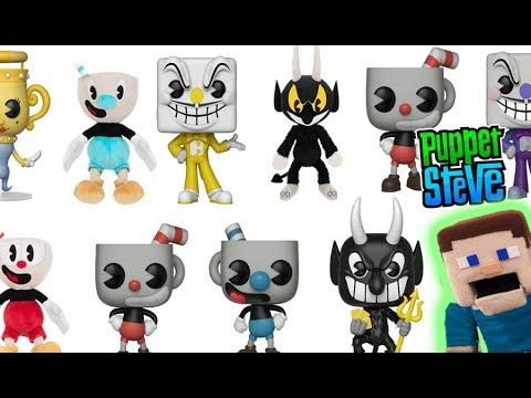 Cuphead Funko Pop Vinyl Toys & Plush Trailer Reveal Rap Gameplay Review song Puppet Steve