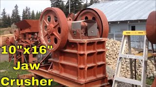 "MBMMLLC.com: 10""x16"" jaw crusher for rock, concrete, mining, demolition"