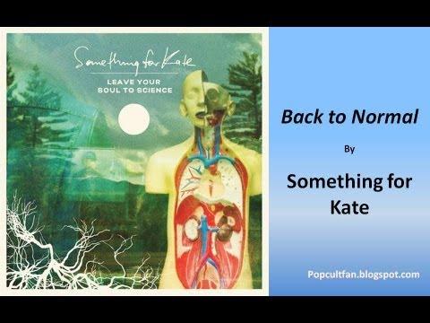 Something for Kate - Back to Normal (Lyrics)