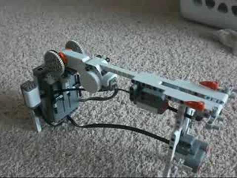 NXT rubber band gun