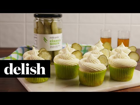 How to Make Pickle Cupcakes | Recipe | Delish