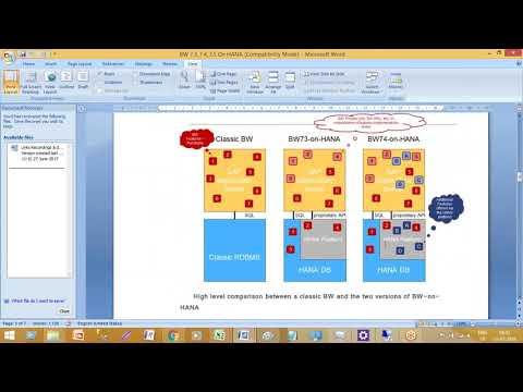 SAP BW4HANA | SAP BW 7 3 On HANA Transient Provider | Imports | Exports | BW | HANA Models