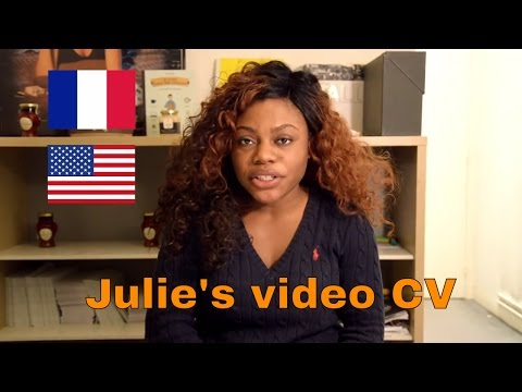 Video CV of Julie