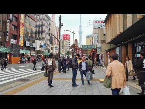Asakusa to TOKYO SKY TREE on foot - Long Take【東京・浅草/東京スカイツリー】 4K