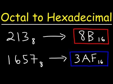 Octal to Hexadecimal Conversion - The Easy Way!