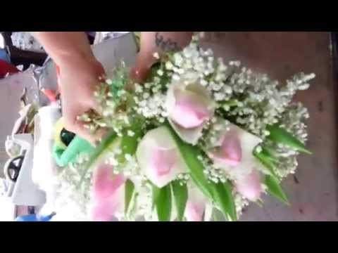 Making Flower Bouquets | 10 Pink Tulips Bouquet