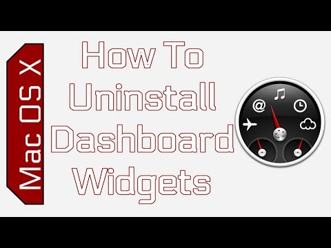 How To Delete Dashboard Widgets in Mac OS X