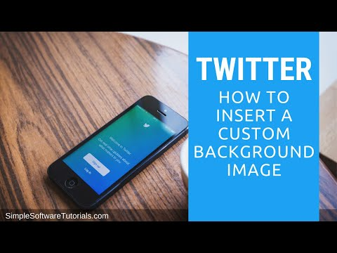 Tutorial: How to Insert a Custom Background Image in Twitter