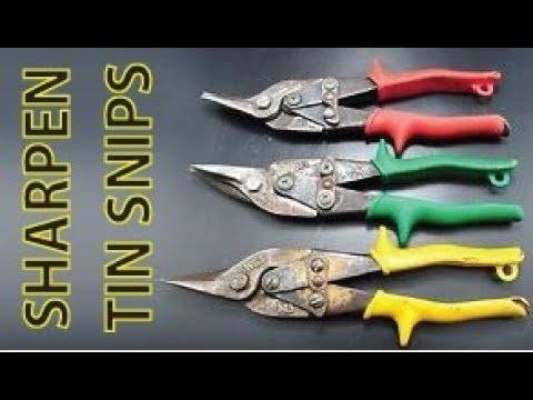 Sharpen Dull tin snips QUICK!