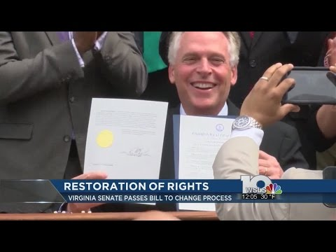Virginia Senate passes bill to change restoration of rights