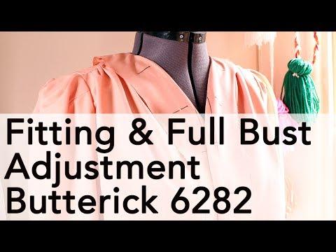 Fitting + Full Bust Adjustment Butterick 6282, 1940s Dress!   Vintage on Tap