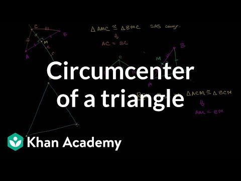 Circumcenter of a triangle | Special properties and parts of triangles | Geometry | Khan Academy