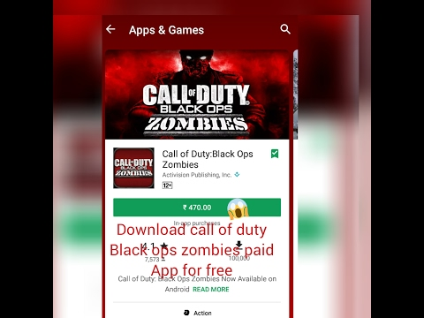 Download call of duty :black ops zombies paid app for free