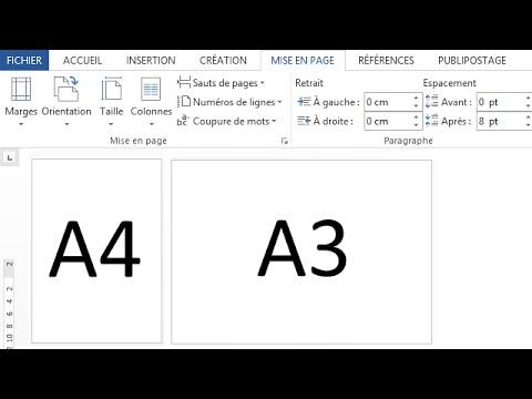 002-format A3 et A4 sous Word